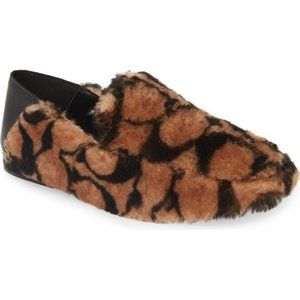 COACH Women's Holly Logo Shearling Loafers